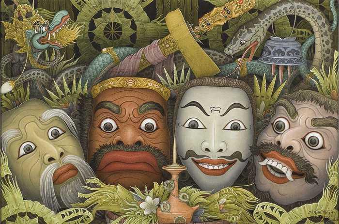 Tumpek Landep, Balinese Mask, by I Nyoman Meja, Bali