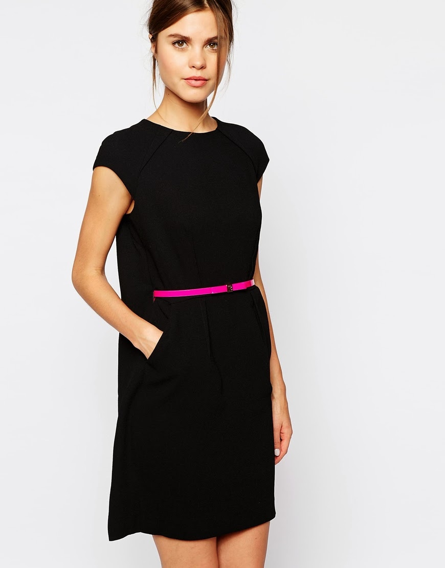 black ted baker dress with belt