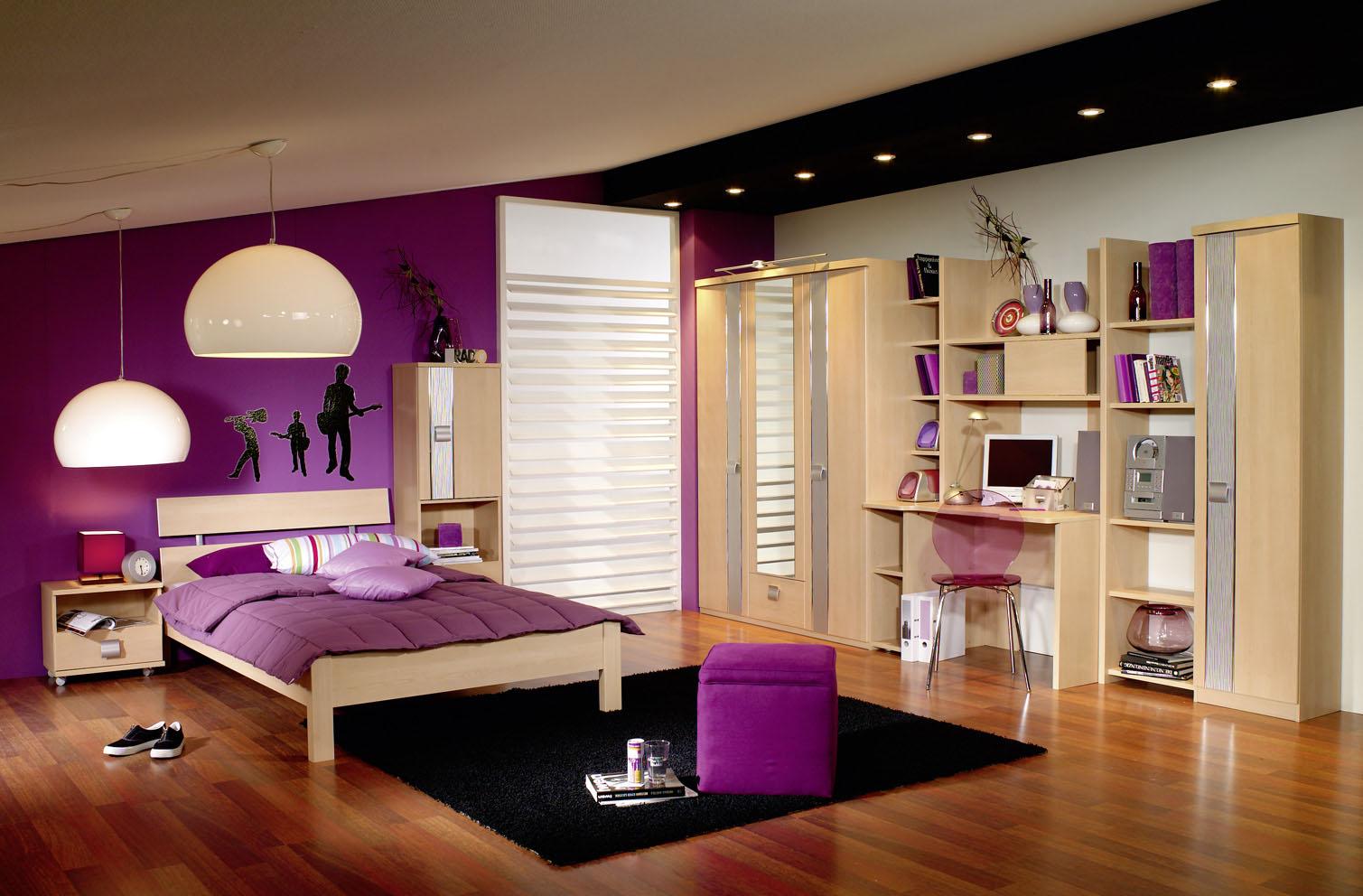 Habitaciones con estilo dormitorios morados para j venes - Habitacion juvenil chica ...