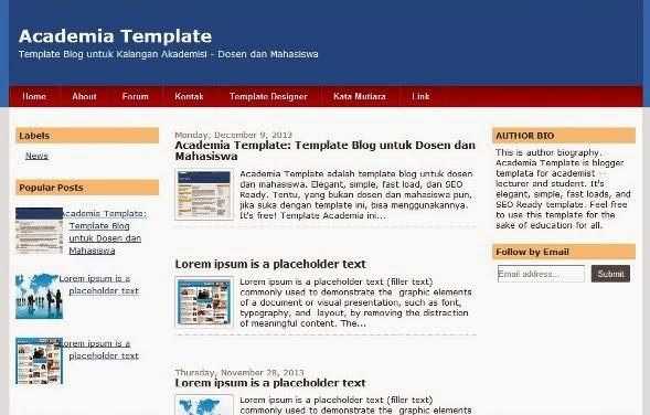 academia blogger template