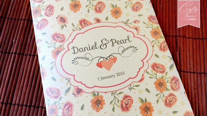 Floral Vintage Side Fold Budget Wedding Card Malaysia