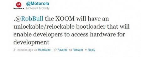 Motorola Xoom to have unlockable / relockable bootloader