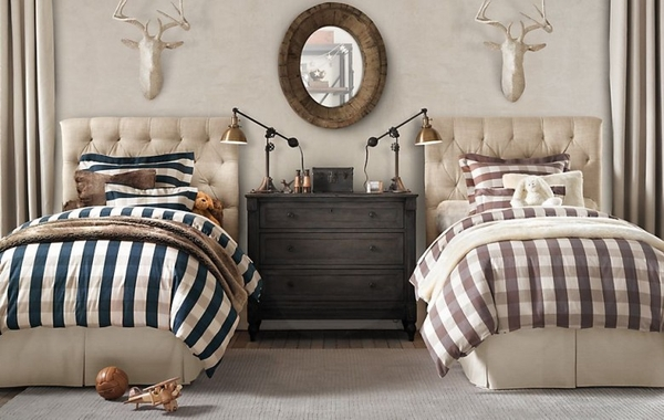 Black and white buffalo plaid bedding p wall decal