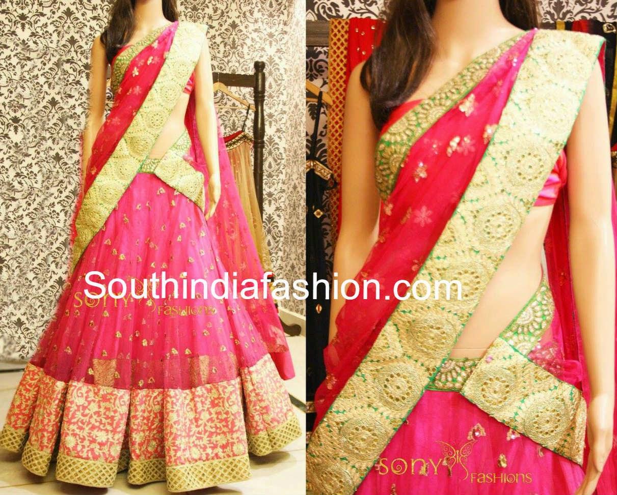 sony reddy half sarees