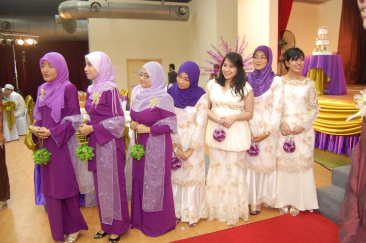 Bridesmaid malay wedding