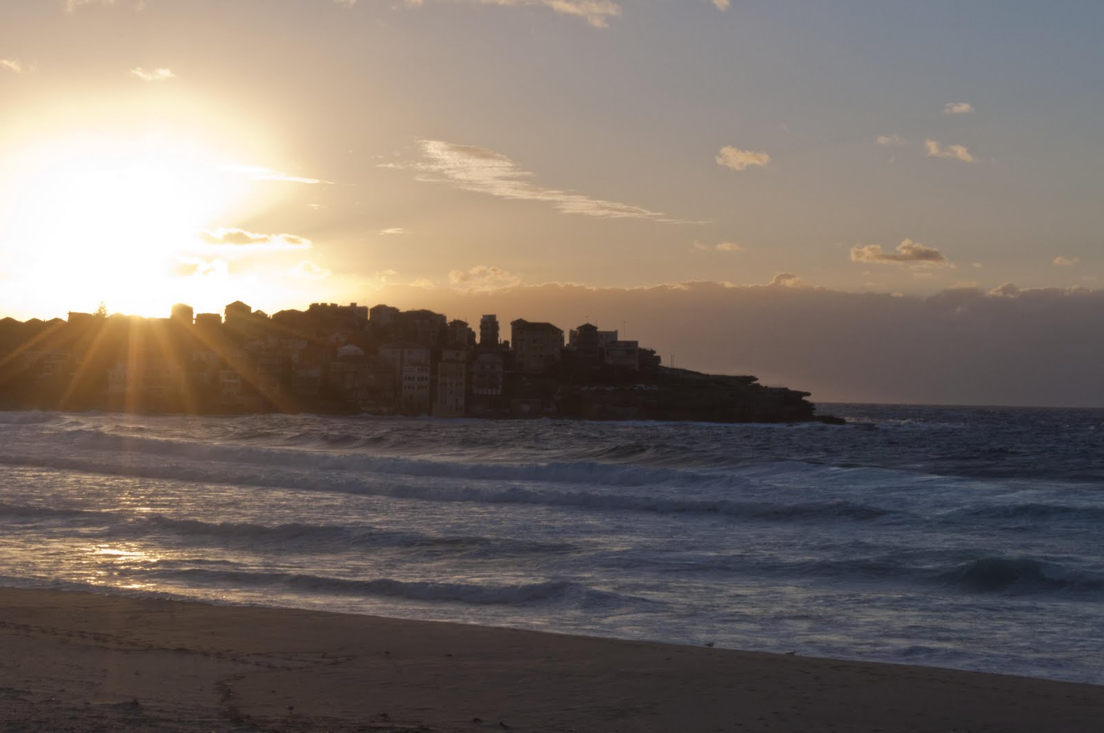 Sunrise over North Bondi