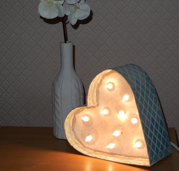 La lampe cœur