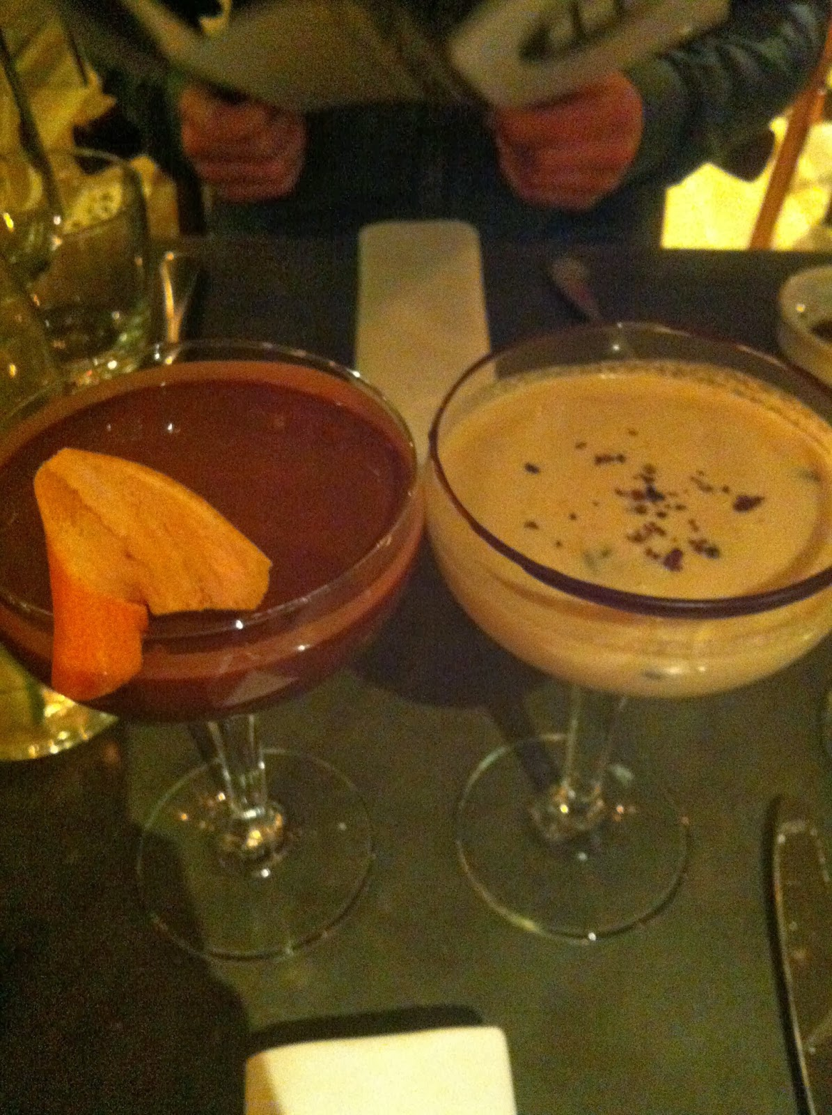 Picture of a Chocolate Soother and Hazelnut Soother Cocktail at Rabot 1945