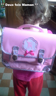 sac à dos rose école