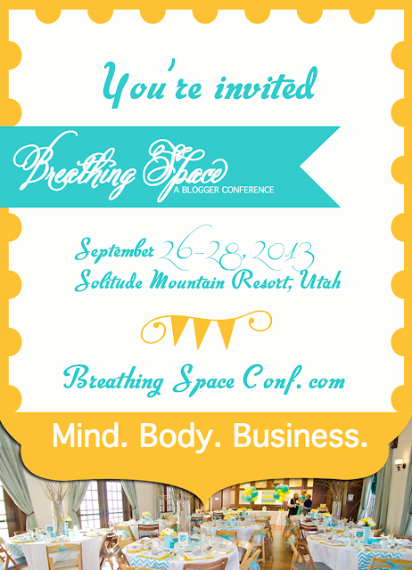 Breathing Space Blogger Conference, September 2013... Looks amazing!!!