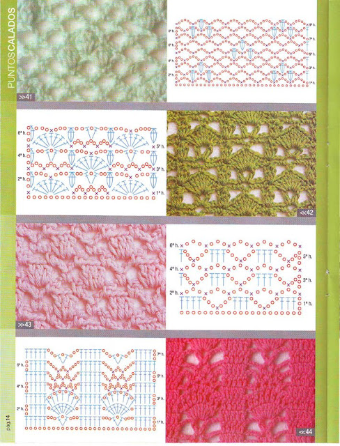 Muestrario de puntos a crochet calados - Imagui