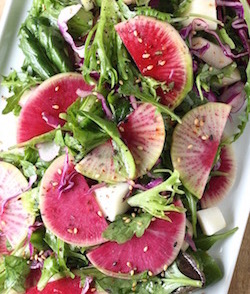 watermelon radish salad recipe by seasonwithspice.com