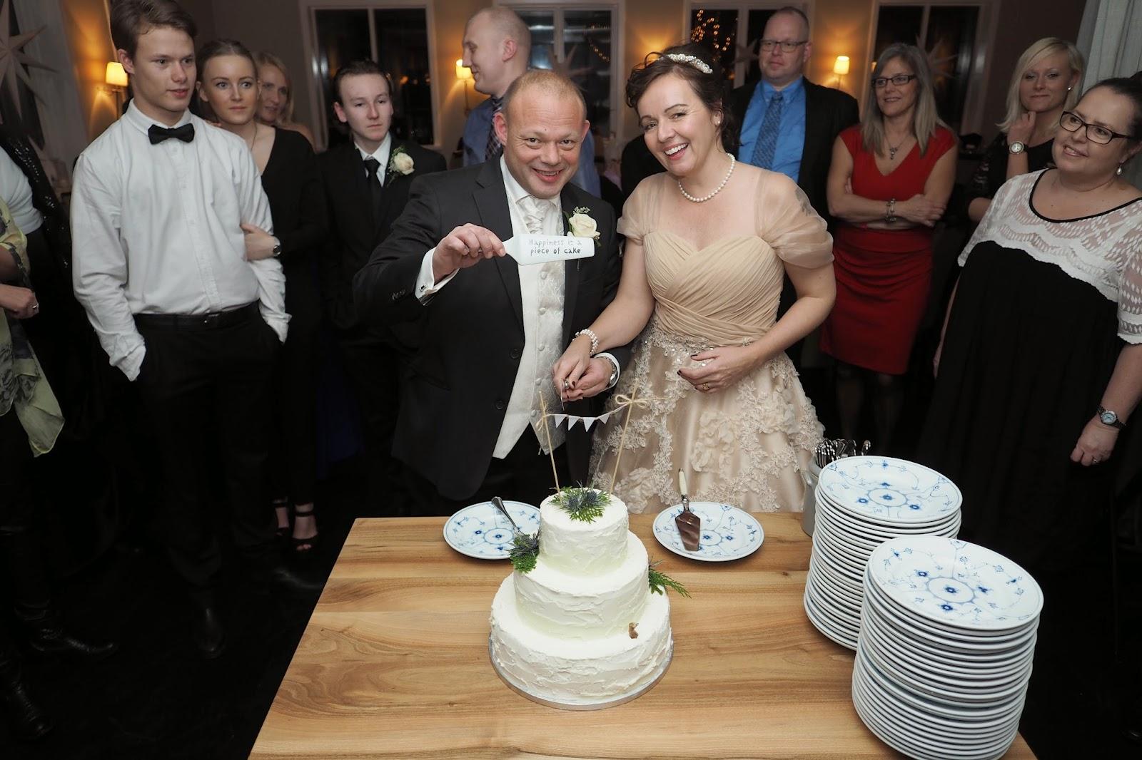 Julie og Christians bryllupskage