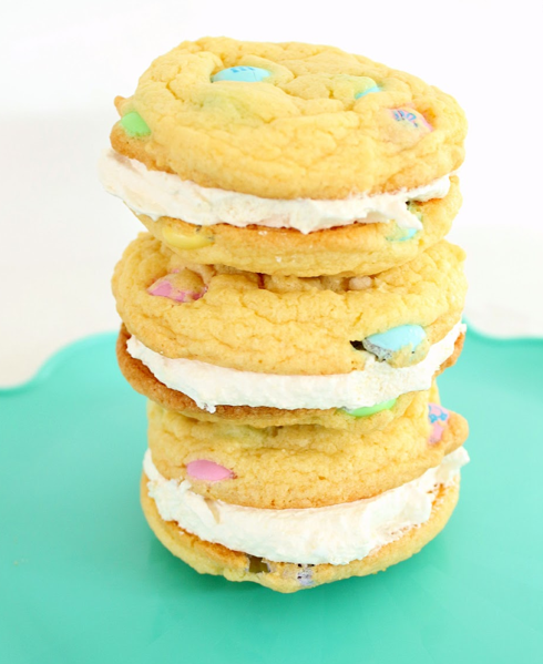 Easter Cake Mix Double Doozie Sandwich Cookies Recipe