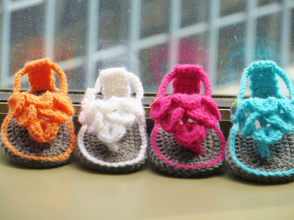 Crocodile St Baby Sandals Or Booties Crochet Pattern 0 12 Months