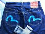 evisu jeans blue seagulls size 32