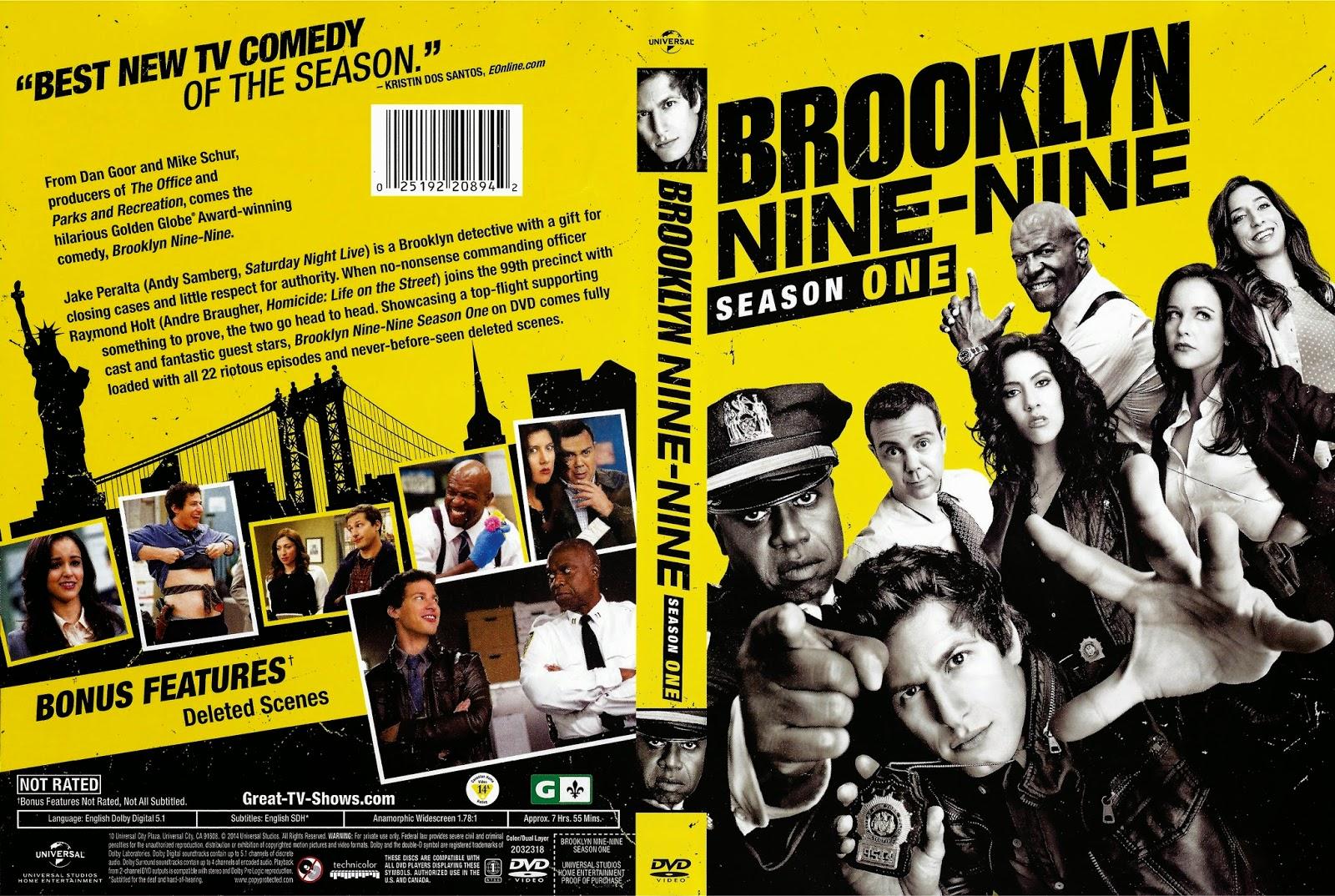 Brooklyn Nine Nine 1ª Temporada Completa 720p BRRip X264 Dublado getdvdcovers brooklyn nine nine 2014 r1 front