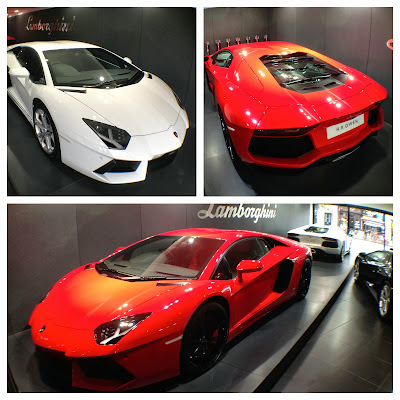 Four Lamborghini Aventadors from London
