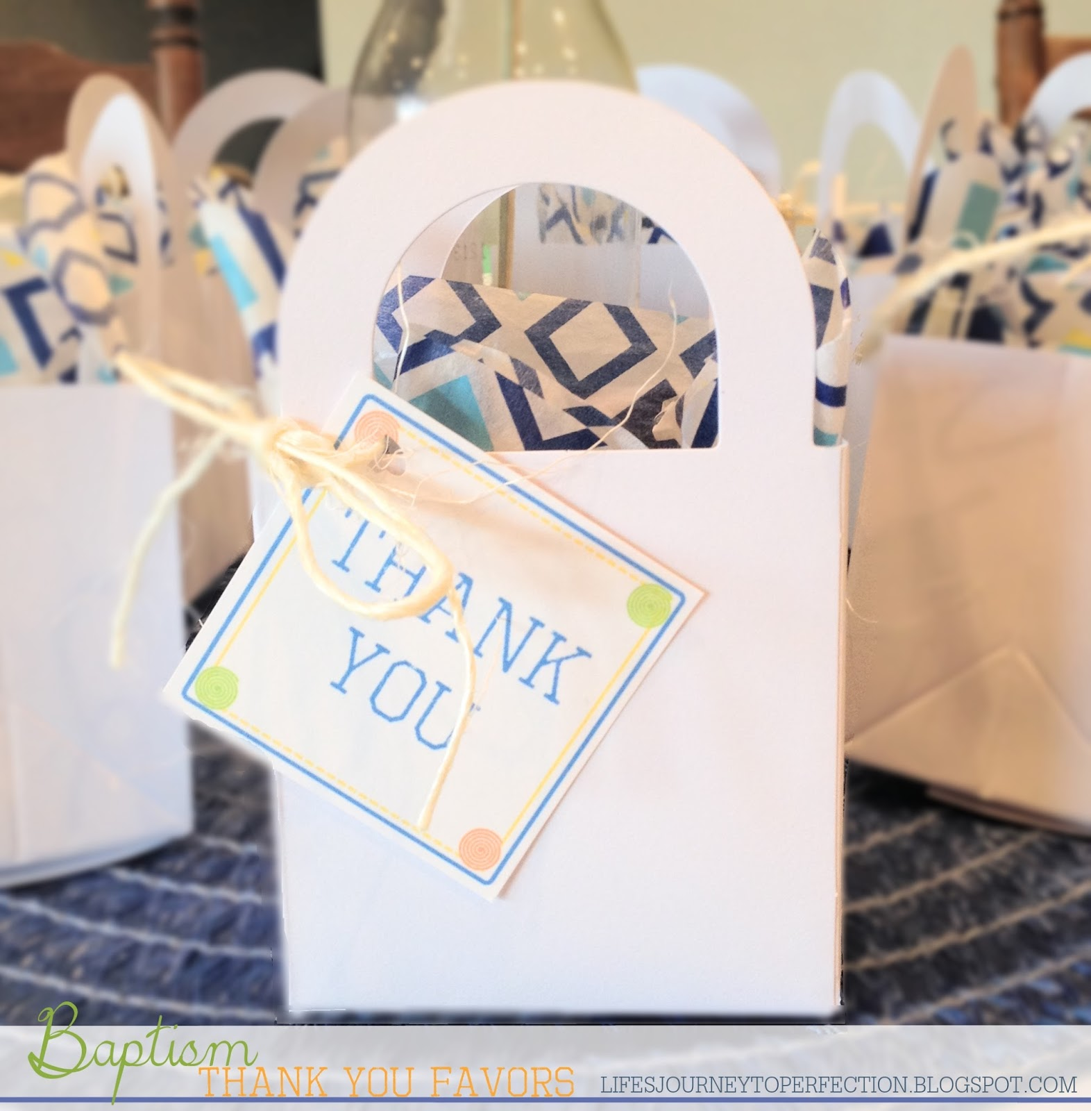 Life\'s Journey To Perfection: Thank You Baskets with Free Tag Printable
