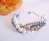 Chunky Twisted Bridal Bracelet