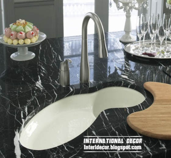 black granite sink, undermount stone sinks