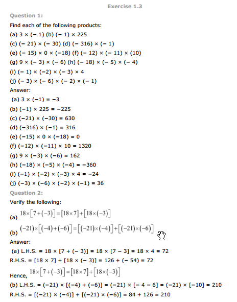 NCERT Text Book Solutions: NCERT Solutions for Class 7th Maths ...