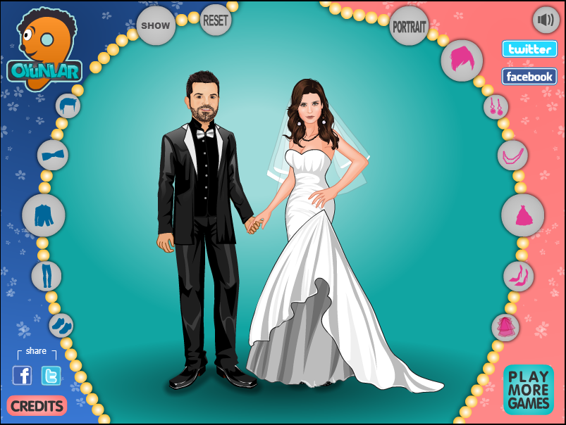 Play Free Online Indian Wedding Couple Dress Up Games Overlay