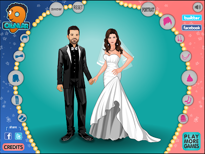 Bridal Dress on Wedding Couple To Make Them  Bride And Groom Score Dress Up Starfall