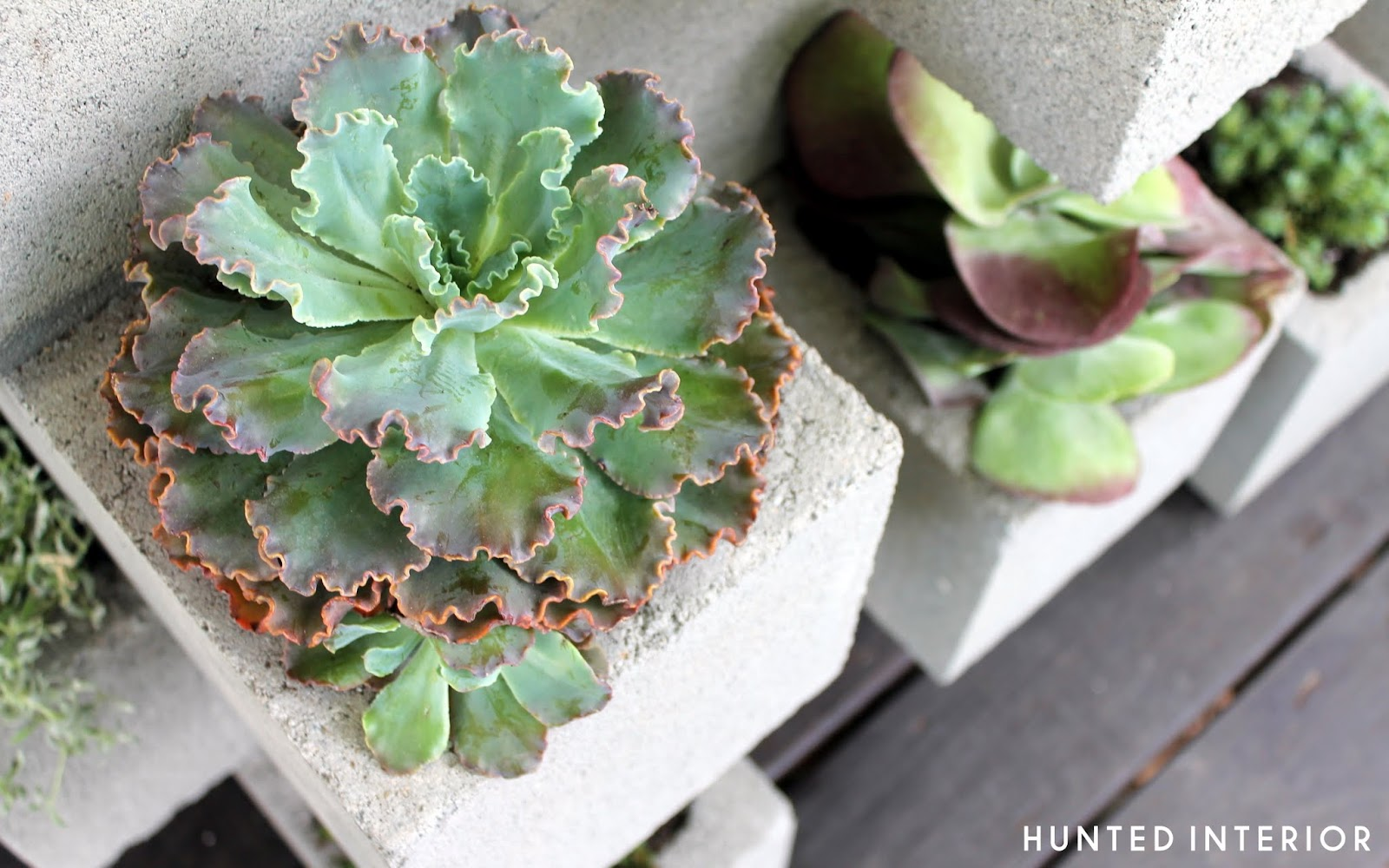 Life In The Middle Lane Cinder Block Planter Redux