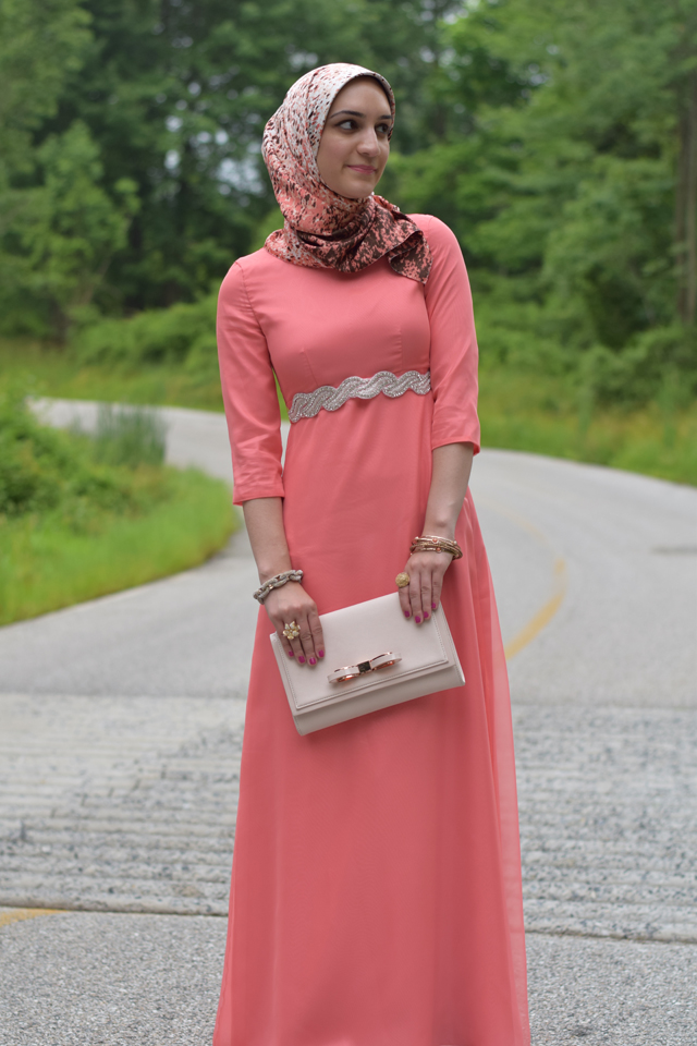 lauleh k couture modesty modest muslim dress long gown pink hijab