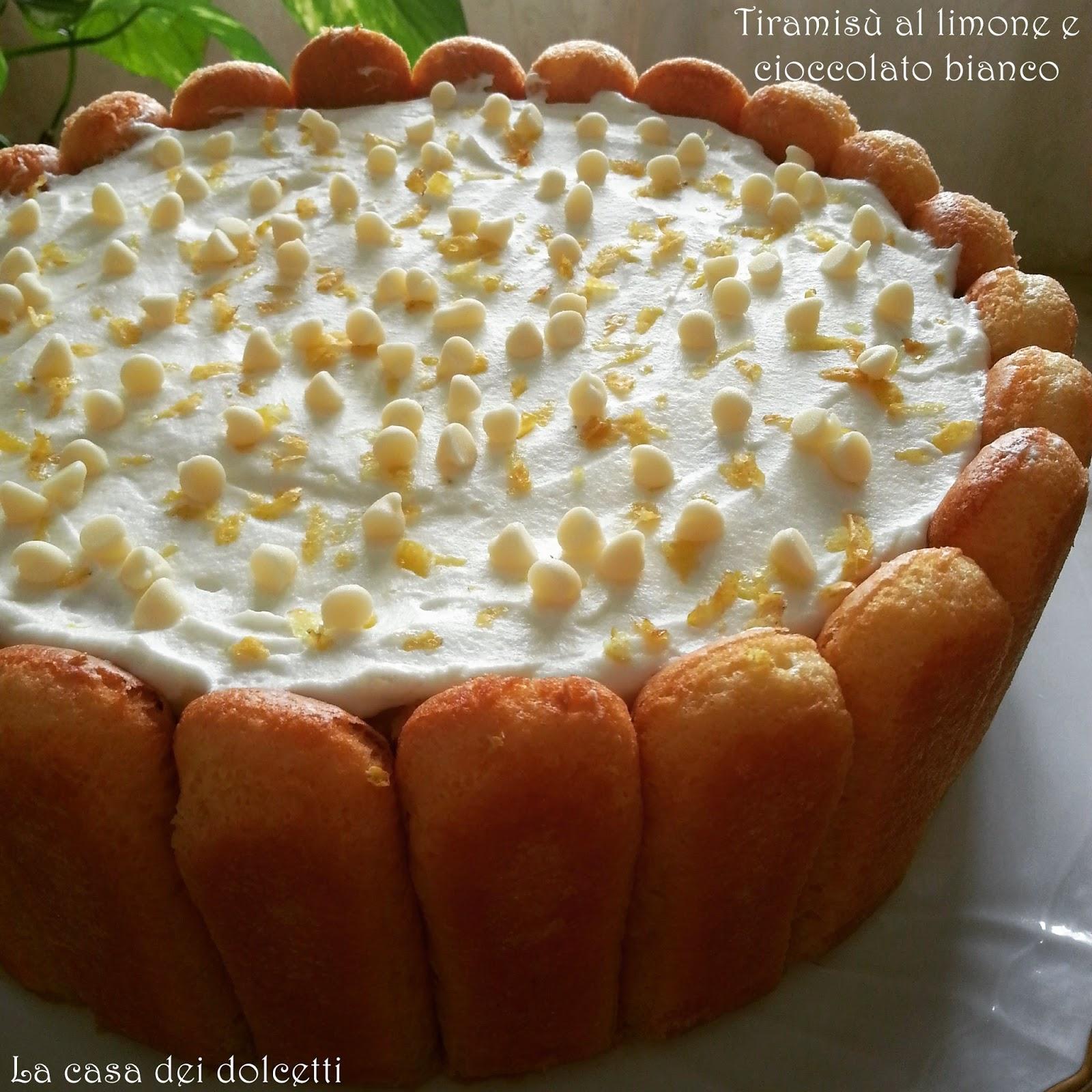 Super La casa dei dolcetti: Tiramisù al limone e cioccolato bianco JV93