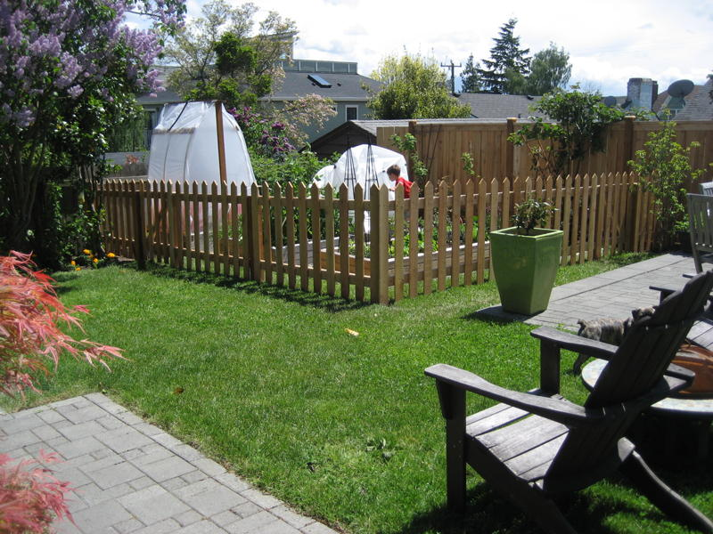 The Title Of This Post Is Inspired By The Most Visible Change To Our Garden.  Looking For A Visually Interesting Way To Keep The Chickens Out Of The  Garden ...