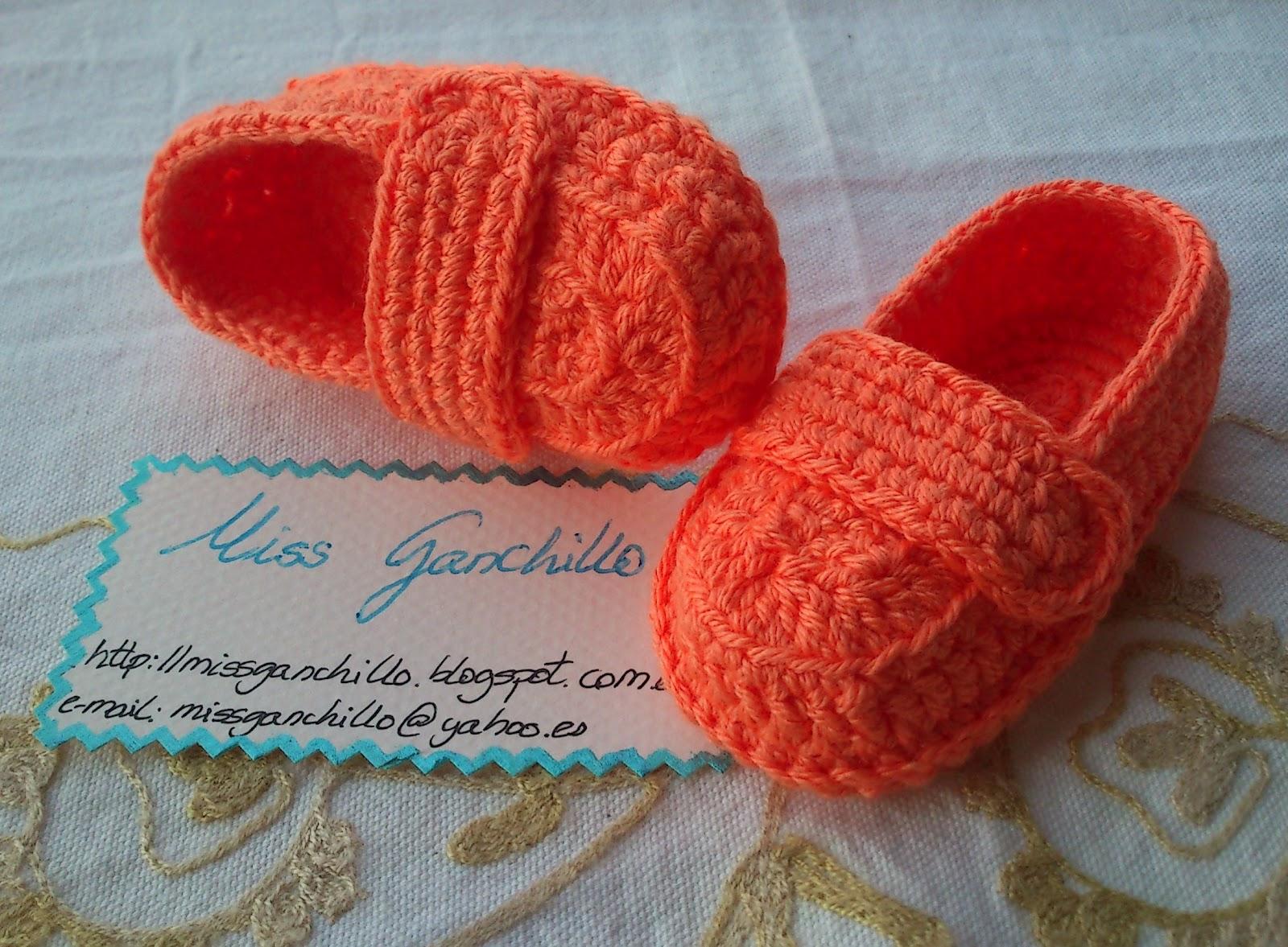 Zapatos mocasines bebé a ganchillo - crochet