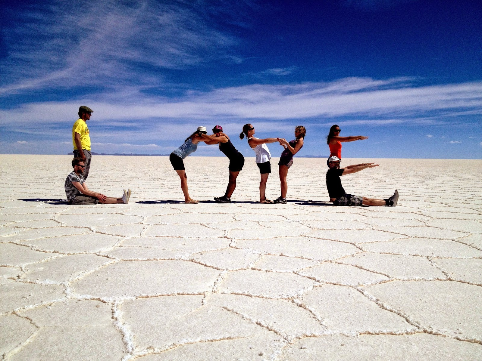 Making the word 'Love' in the Salar de Uyuni