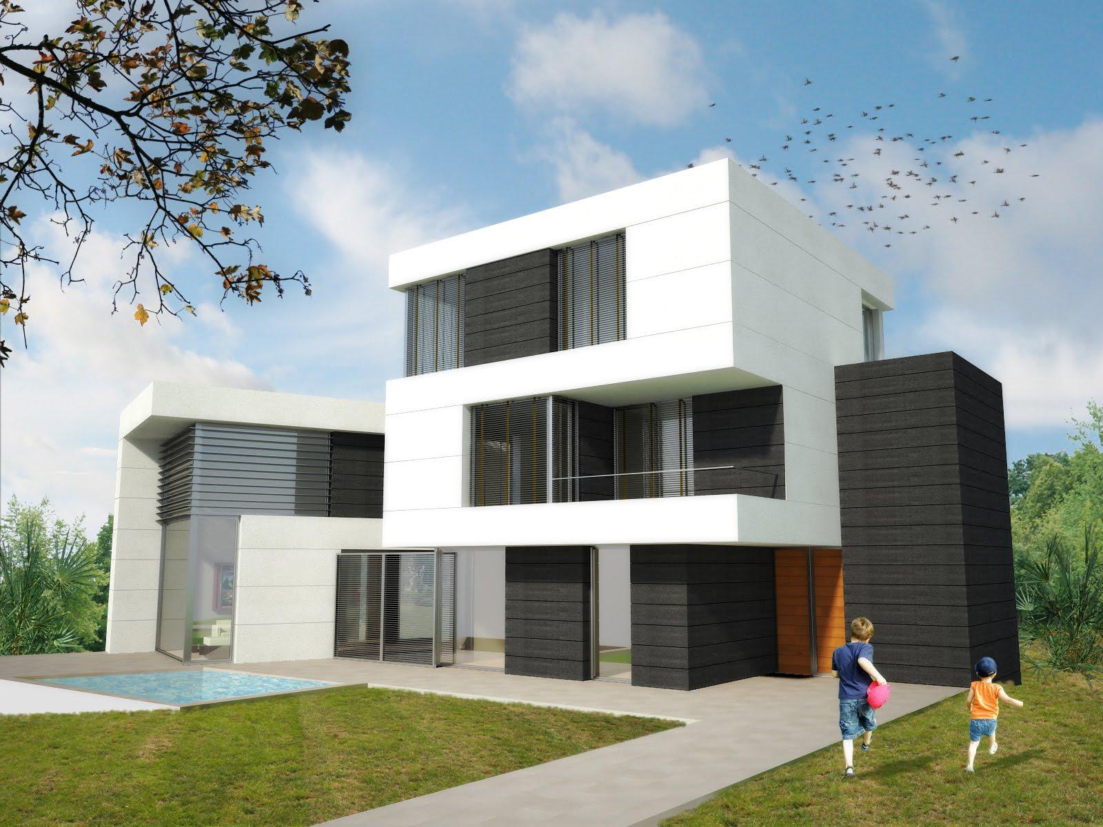 Casas modulares blochouse casa en vallpineda for Casas prefabricadas mediterraneas