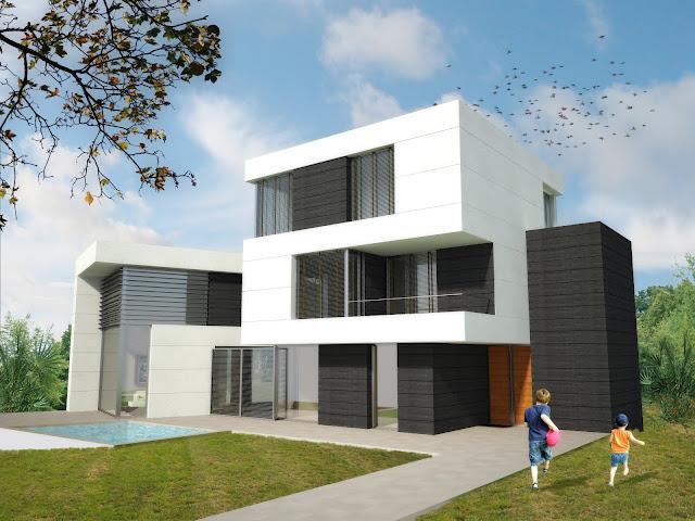 Casas modulares blochouse casa en vallpineda - Casa modulares modernas ...