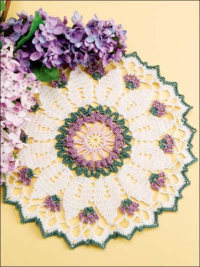 Crochet Flower Doily Pattern : Miss Julias Patterns: Free Patterns - 40+ Flowers to knit ...