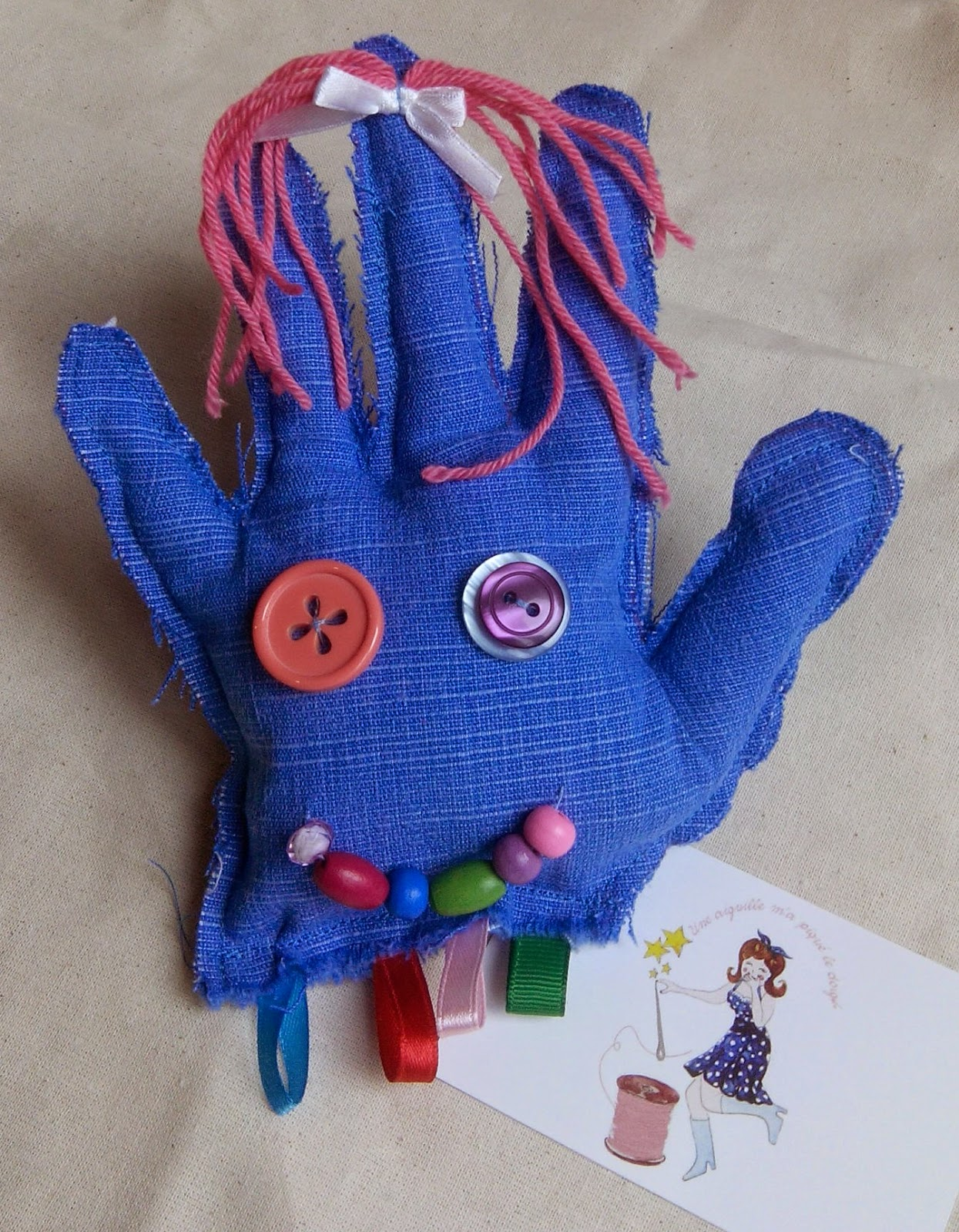 Couture main doudou