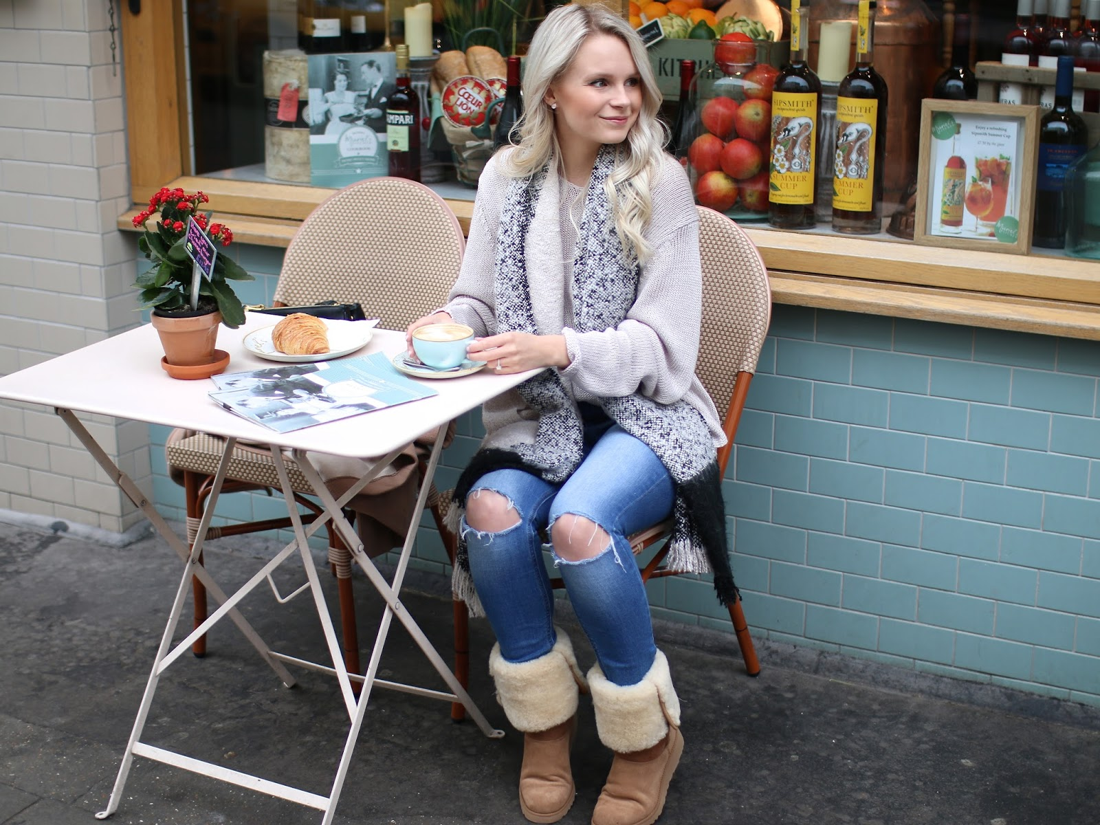 coffee date in soho in ugg boots, how to dress up your ugg boots
