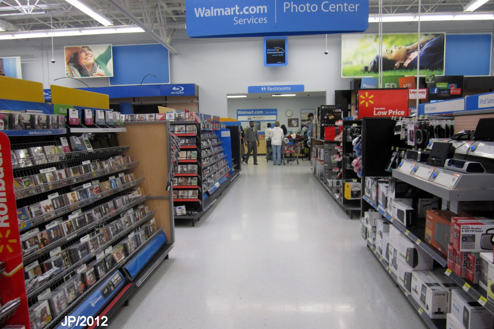 walmart store photo department music cd aisle