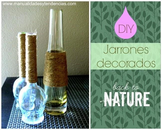 Cómo decorar un jarrón con cuerda