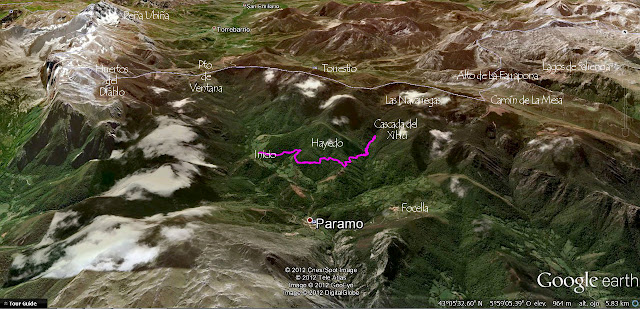 Mapa Hayedo de Montegrande y Cascada del Xiblo