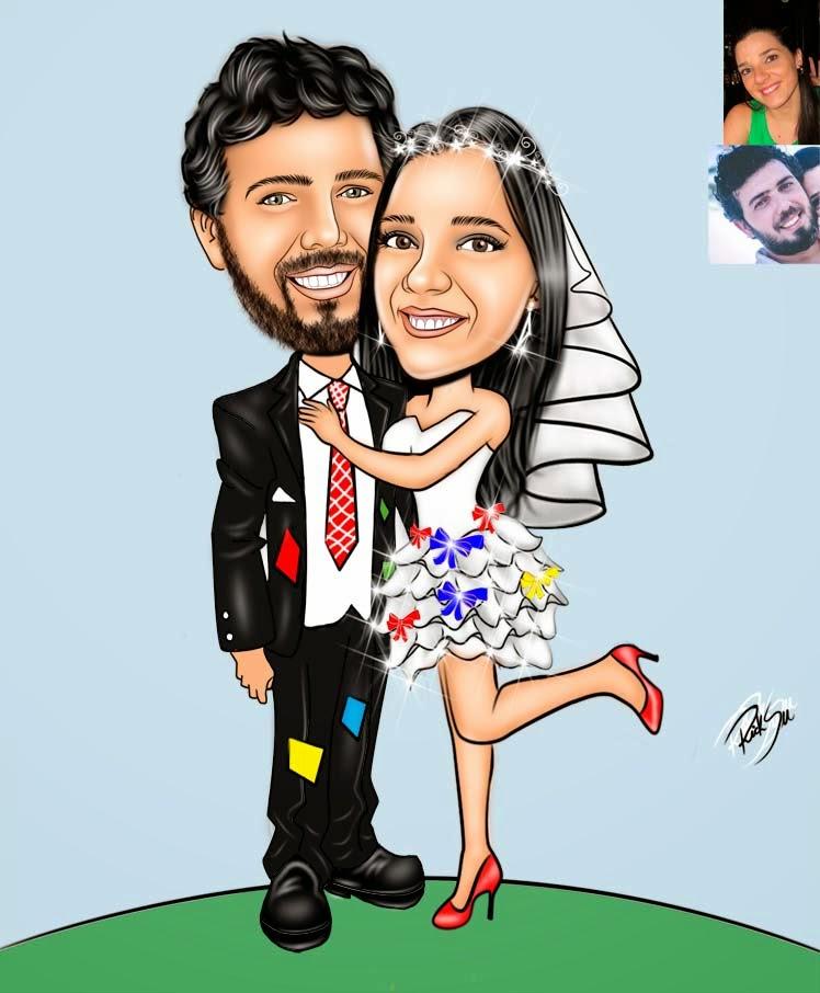 caricatura de festa junina