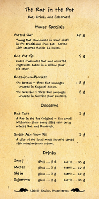 The Rat in the Pot menu version 2