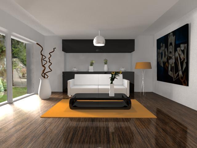 s arquitetura e planejamento decora o sala de estar
