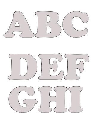 Mais Moldes De Letras Do Alfabeto   Po A Po