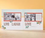 Stamp of the Month -LIVE, LOVE, LAUGH