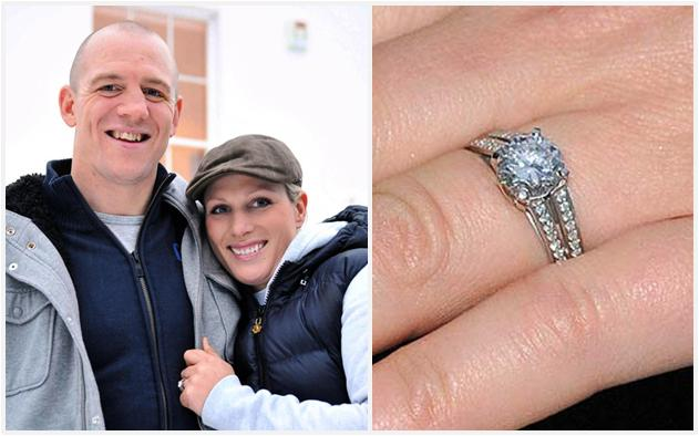 Princess Anne's daughter Zara Phillips received a custom-designed ... Princess Diana Wedding Band