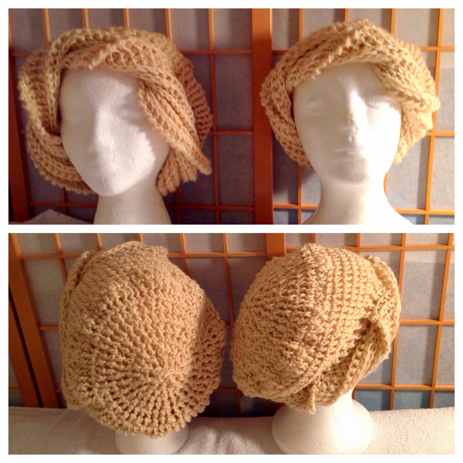 The CAROLYN Crochet Beanie Hat (left) The SAMANTHA Turban Hat (right)