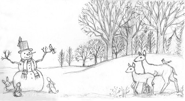 kids coloring pages winter scenes - photo#34